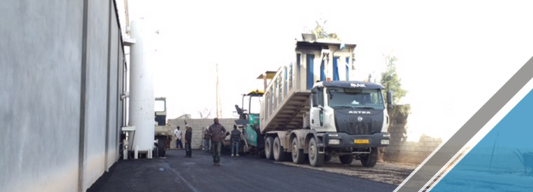 The end of the third part of the asphalt work (5)