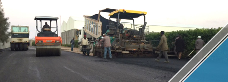 The end of the third part of the asphalt work (9)