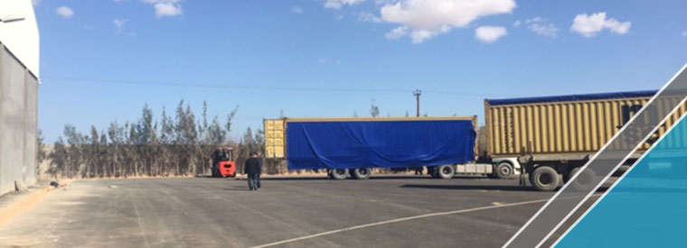The arrival of last shipment of factory equipments (2)