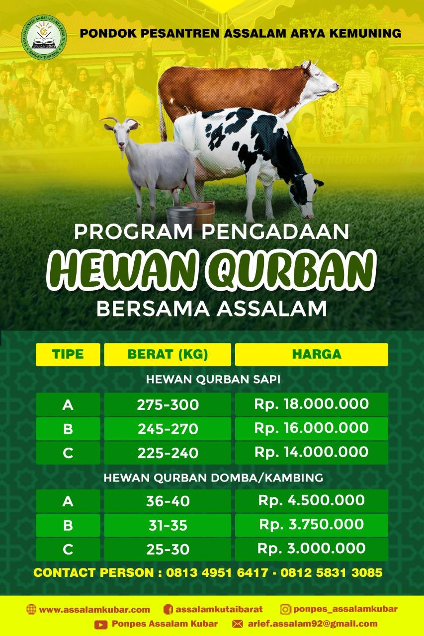 Pedagang hewan kurban, adin (kedua dari kanan) menyerahkan satu ekor kambing jenis etawa kepada. Daftar Harga Hewan Qurban 1441 H | ASSSALAM KUBAR