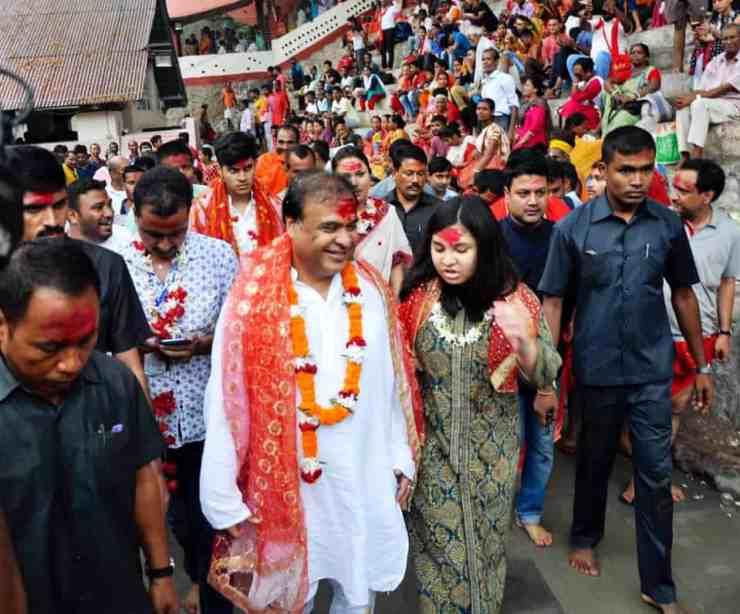 Sukanya biswa sarma with her father