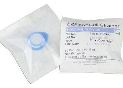 EZFlow® Cell Strainer, 40μm, Sterile, Blue, 50 per Box