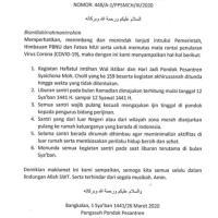 Maklumat Haflatul Imtihan & Liburan Santri PP. Syaichona Moh. Cholil