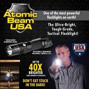 Atomic Beam Usa Ultra Bright Tough Grade Tactical Flashlight