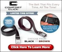 Comfort Click Belt Fits Right  Every Time
