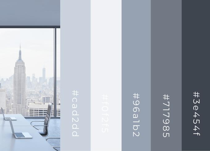 Silver Blue Color Palette