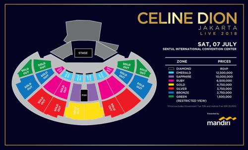 Harga Tiket Konser Celine Dion di Indonesia