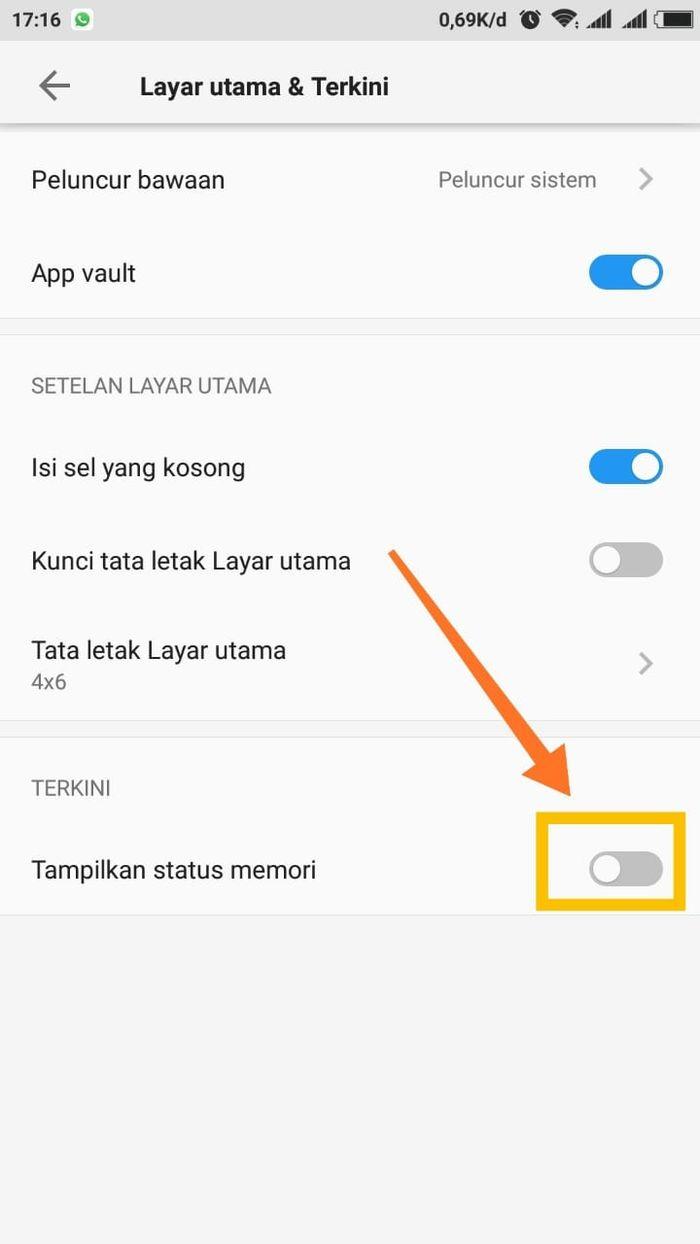 How to display RAM usage on Xiaomi phones