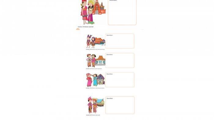 Kunci jawaban buku tematik kelas 4 sd/mi tema 1 subtema 1 pembelajaran 3 halaman 35, 36, 39, 40, 41, 42, 43, 44, dan 45: Inilah Keunikan Pakaian Adat Bali, Kalimantan Barat, dan