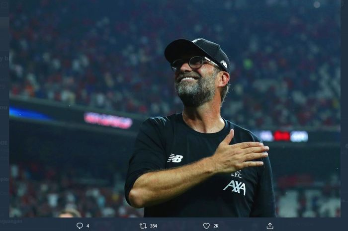Liverpool architect Juergen Klopp, the first German coach to win the English League.