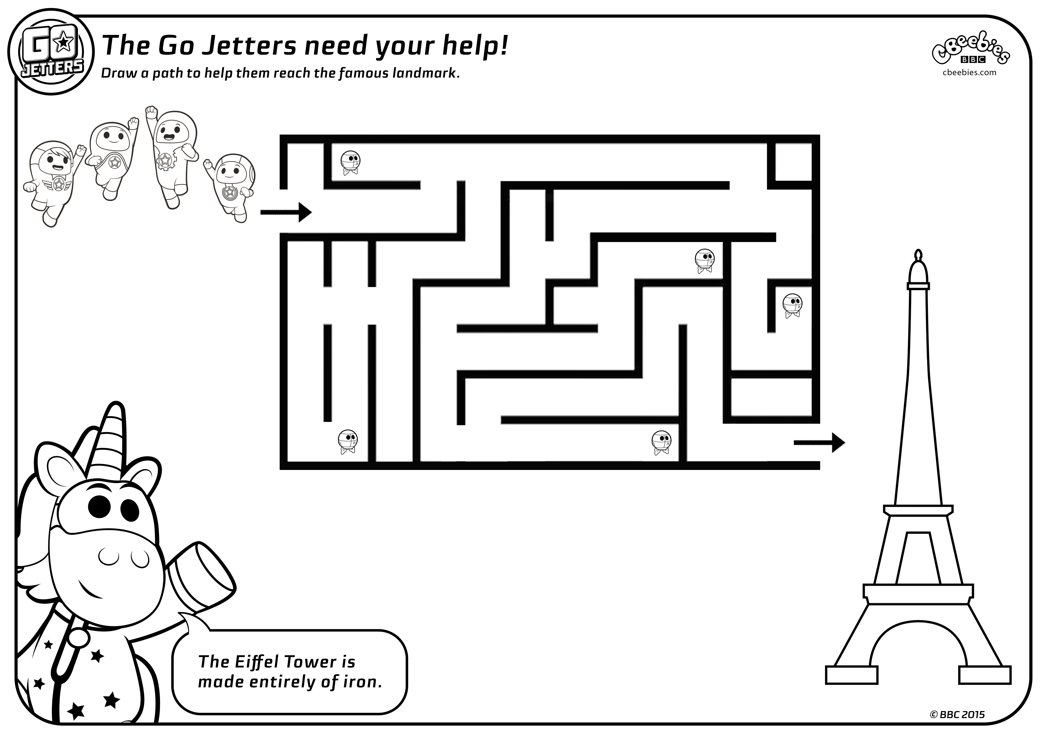 Maze Sheets Go Jetters