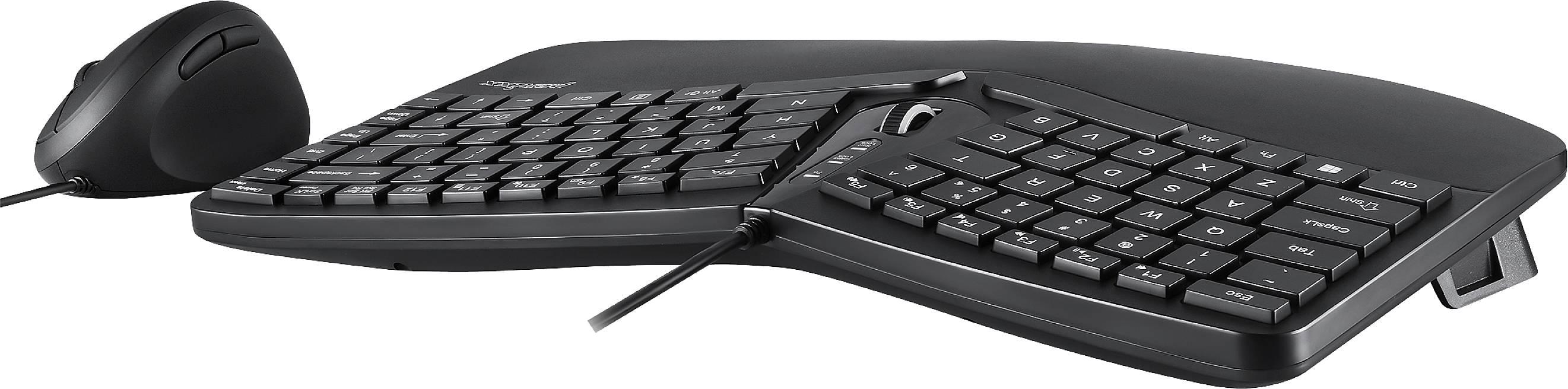 perixx periduo 406bde usb tastatur maus set deutsch qwertz windows schwarz ergonomisch handballenauflage multimedi