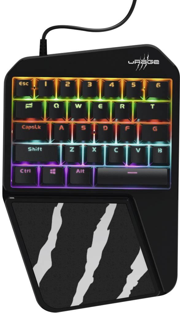 urage 3rgo usb gaming tastatur handballenauflage schwarz