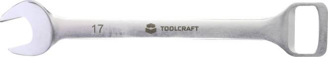 Otvírák na lahve a plochý klíč 2 v 1 TOOLCRAFT, 17 mm