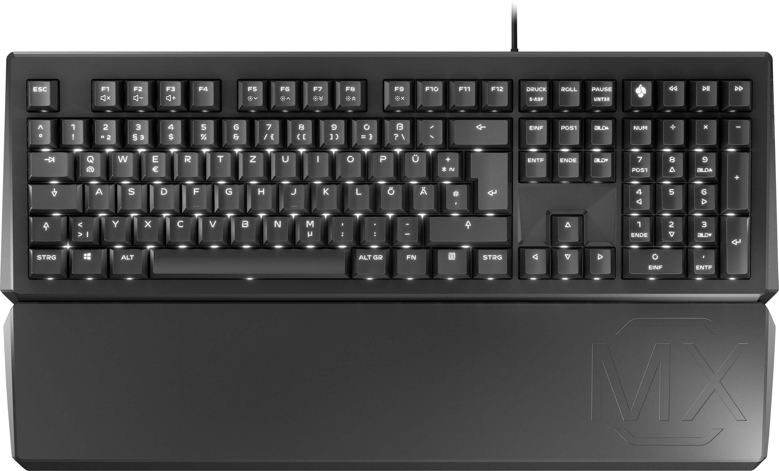 cherry tas mx board 1 0 backlight 55cn usb tastatur handballenauflage deutsch qwertz mac schwarz braun