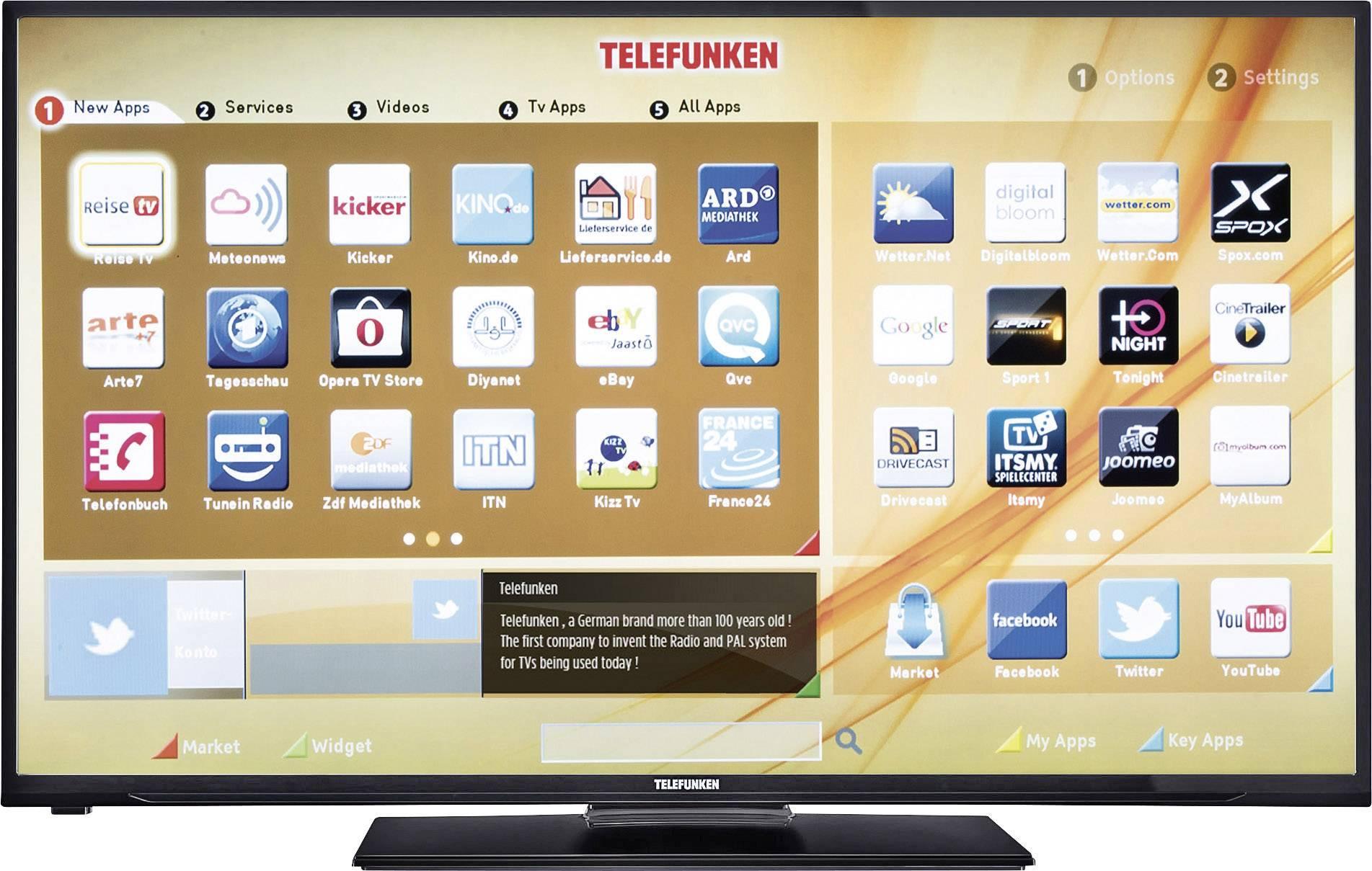 telefunken d43f278a3c led tv 110 cm 43 inch dvb t dvb c dvb s full hd smart tv wi fi ready ci black