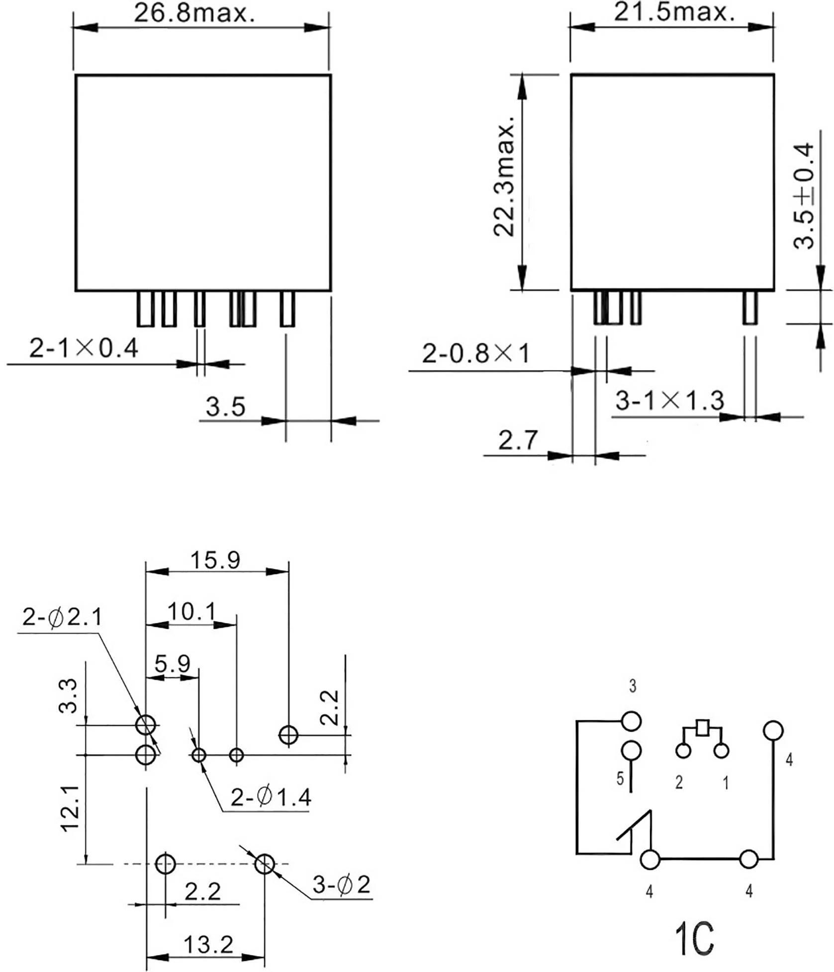 Fic Fra2c S2 Dc24v Automotive Relay 24 Vdc 40 A 1 Change