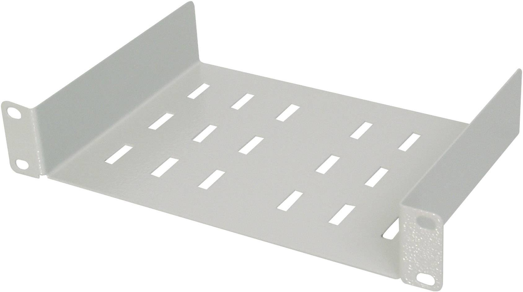 digitus dn 10 tray 1 10 inch server rack cabinet shelf fixed grey white ral 7035