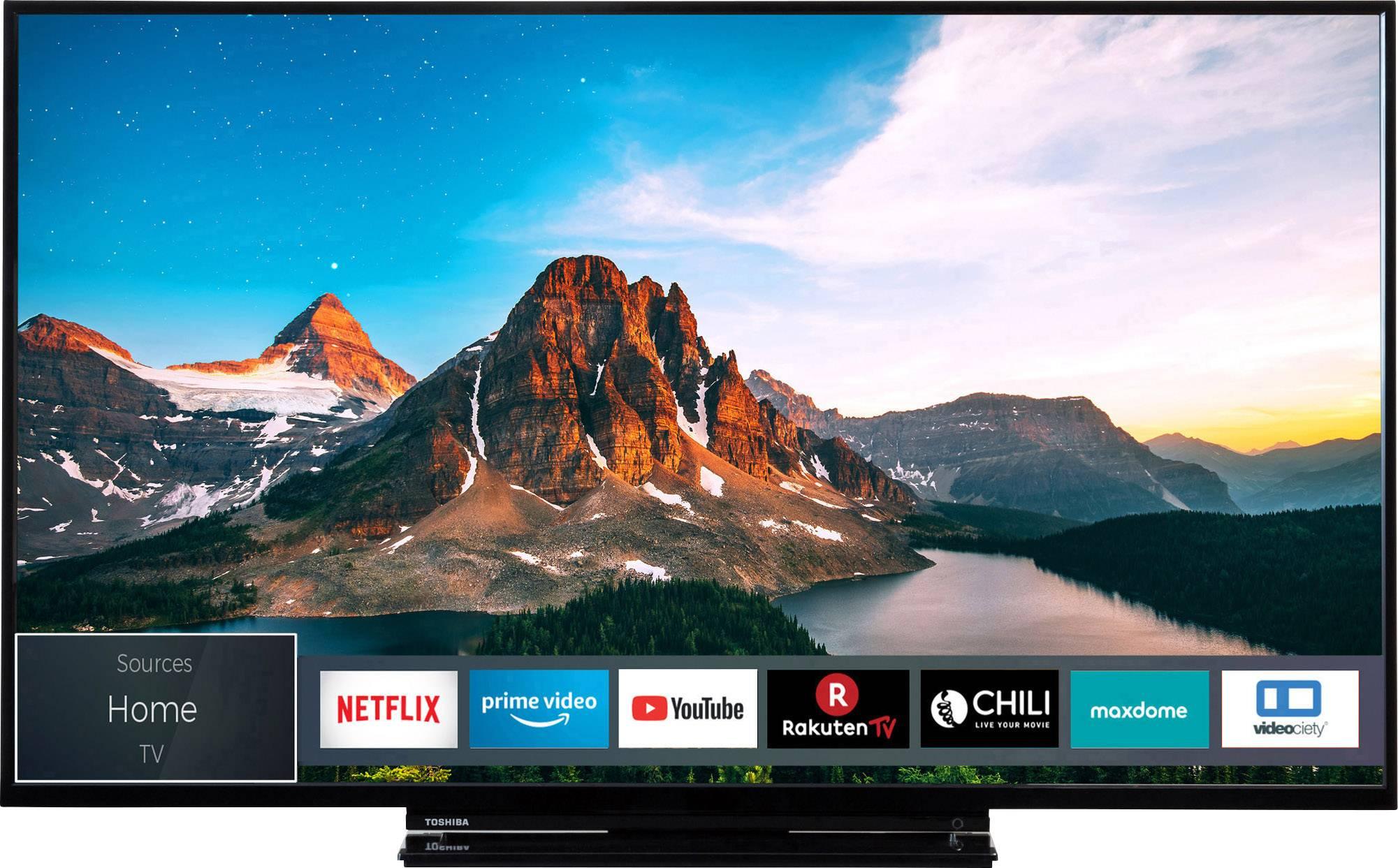 televiseur led toshiba 49v5863da 124 cm 49 pouces dvb t2 dvb c dvb s uhd smart tv wi fi ci
