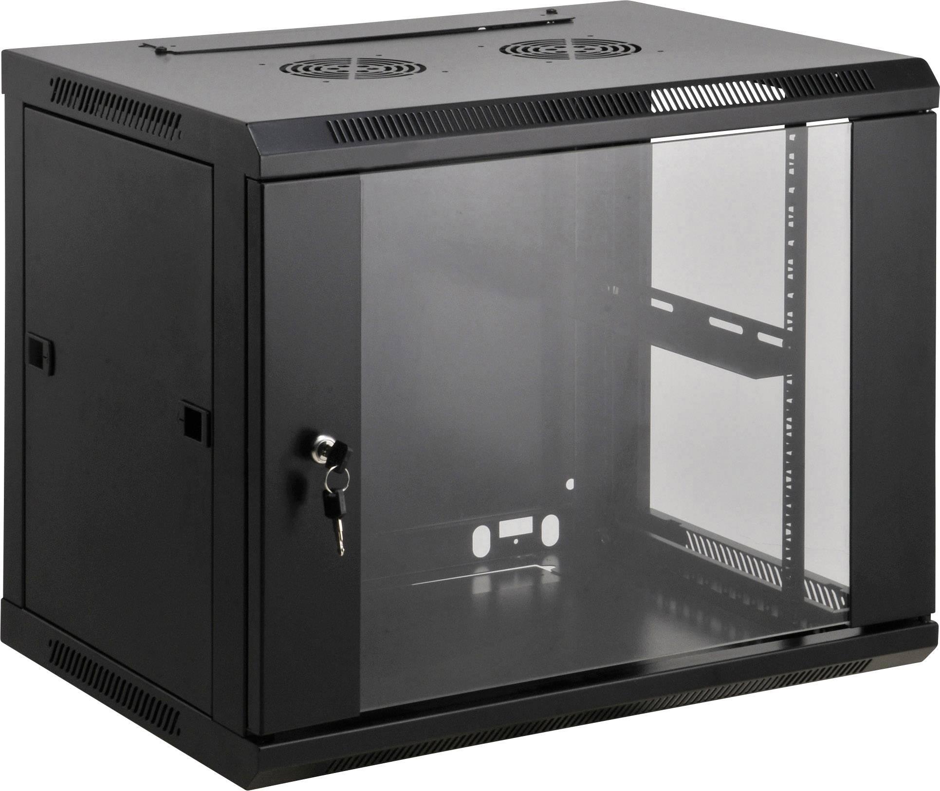 intellinet 712071 armoire baie de brassage 19 l x h x p 600 x 500 x 600 mm 9 uh noir ral 9005