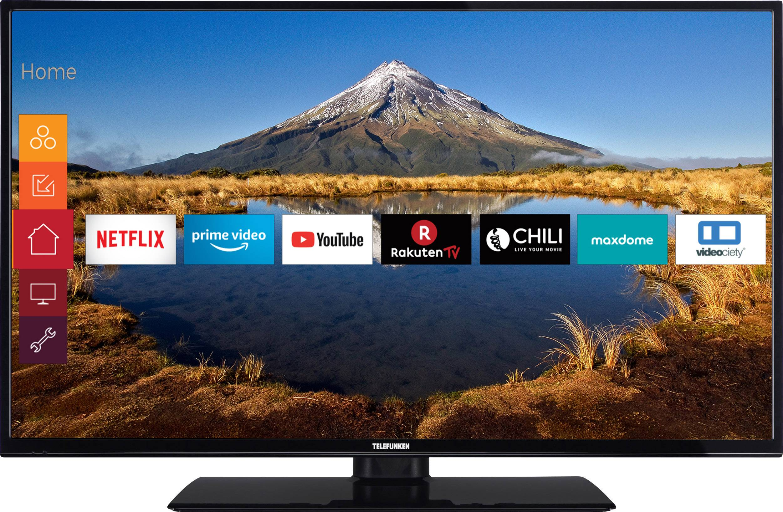 televiseur led telefunken c40u446a 102 cm 40 pouces dvb t2 dvb c dvb s uhd smart tv wi fi ci