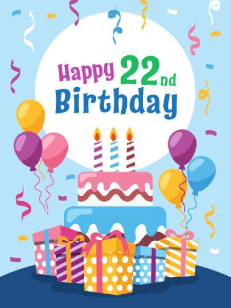 Happy 22th Birthday Images