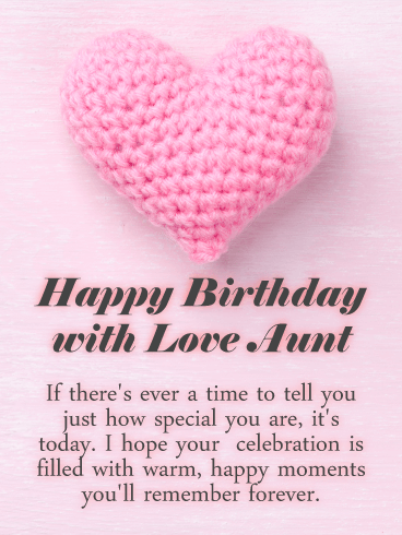 Cute Cats Happy Birthday Card For Aunt Birthday