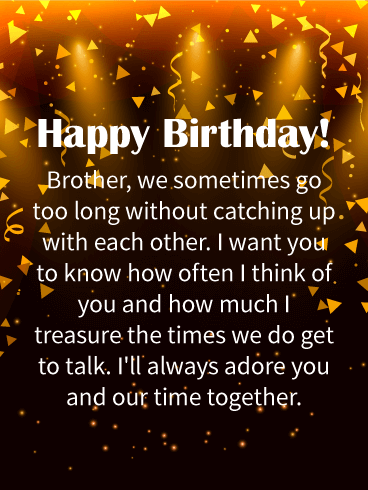 I Love Having You Happy Birthday Wishes Card For Brother Birthday Amp Greeting Cards By Davia