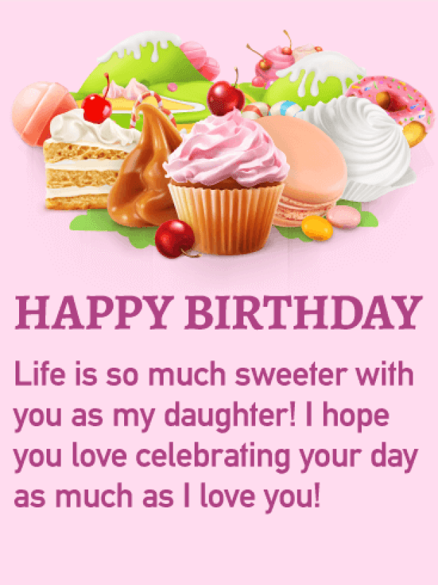 Happy Birthday Daughter Messages with Images - Birthday Wishes and Messages by Davia
