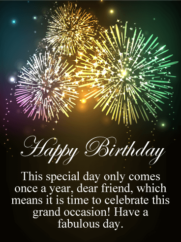 Its A Grand Occasion Happy Birthday Card For Friends Birthday Amp Greeting Cards By Davia