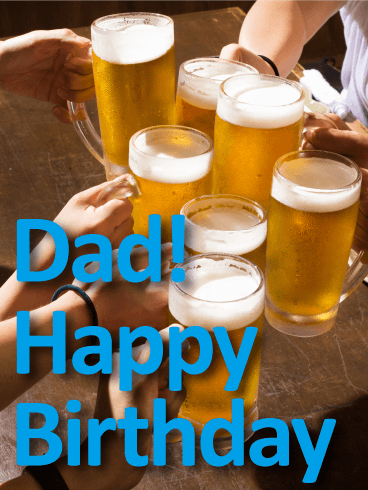 Time To Celebrate Happy Birthday Card For Father Birthday Amp Greeting Cards By Davia