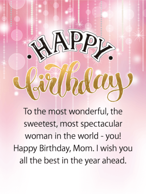 Happy Birthday Mom Messages with Images - Birthday Wishes and ...