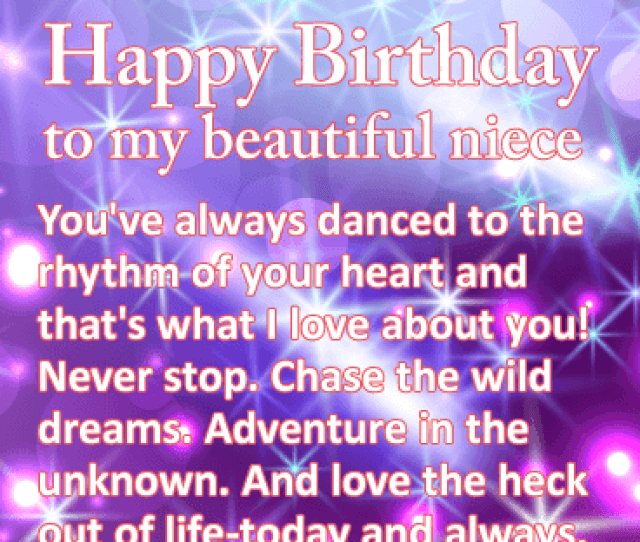 Chase The Wild Dreams Happy Birthday Wishes Card For Niece