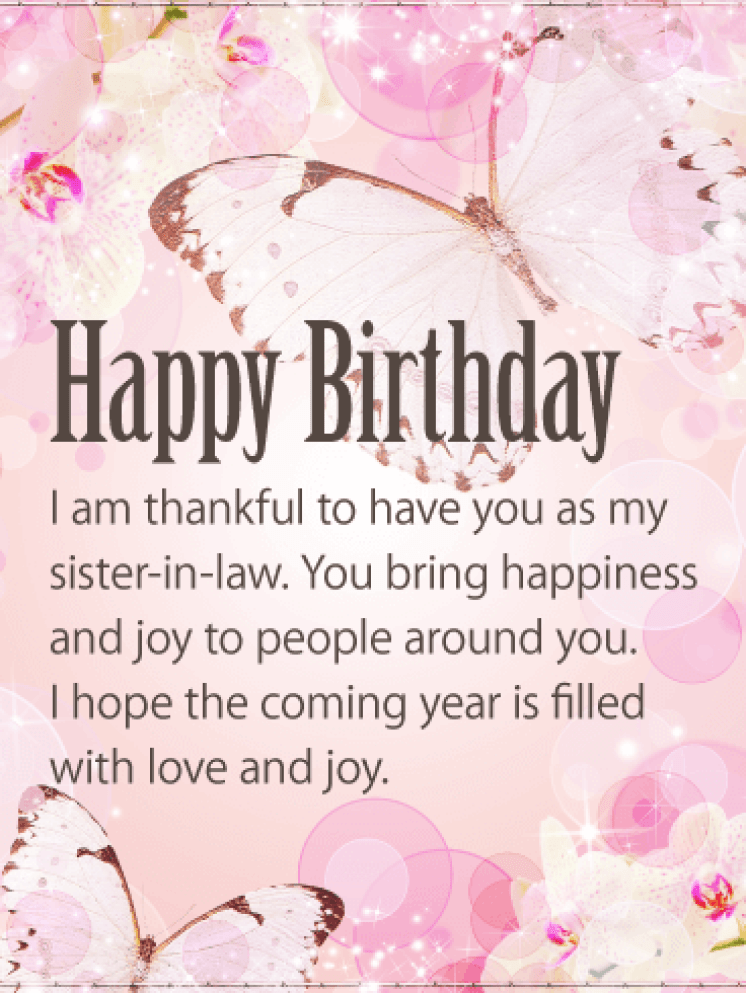 Happy Birthday Sister-in-Law Messages with Images - Birthday Wishes and  Messages by Davia