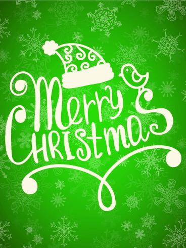 Calligram Christmas Cards 2018 Calligram Merry Christmas