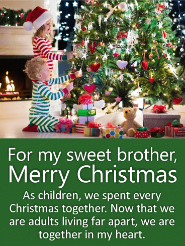 For My Sweet Brother Merry Christmas Wishes Card