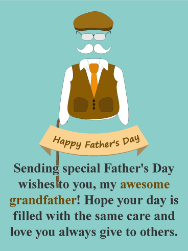 Love Amp Care Happy Fathers Day Card For Grandfather Birthday Amp Greeting Cards By Davia