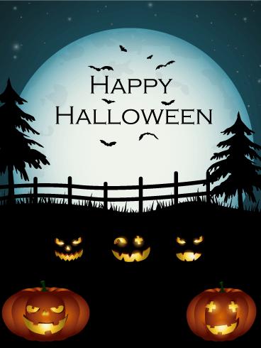 Pumpkins Night Halloween Card Birthday Amp Greeting Cards