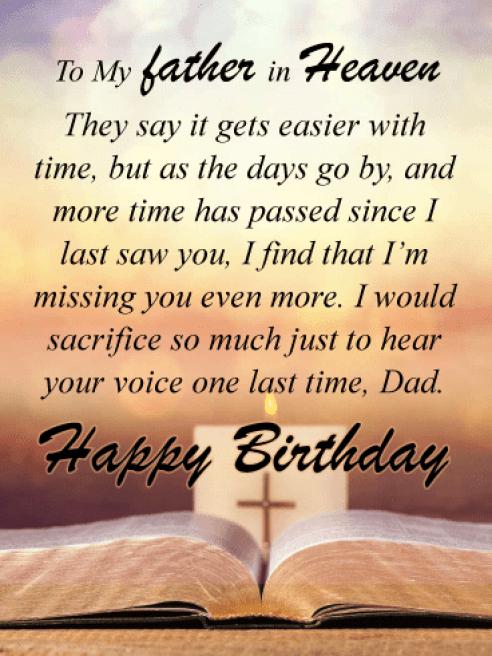Happy Heavenly Birthday Dad Images