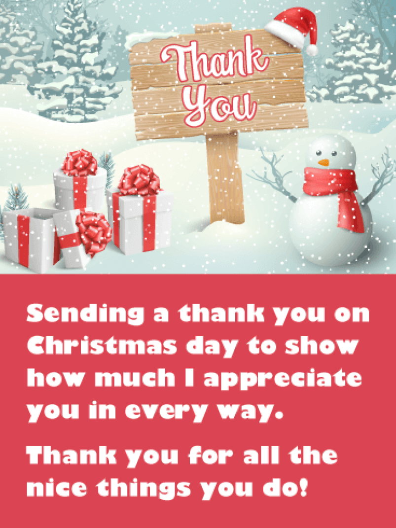 Christmas Thank You Wishes - Birthday Wishes and Messages by Davia