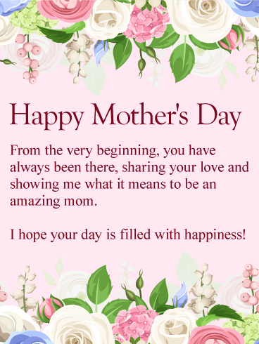 To My Amazing Mom Happy Mother S Day Card Birthday Greeting Cards By Davia