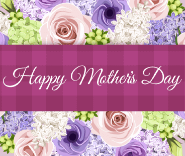 Stunning Flower Happy Mothers Day Card