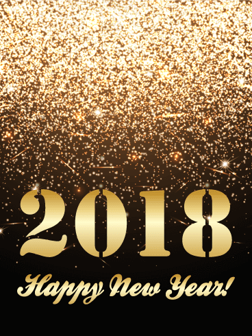 poster for happy new year 2018