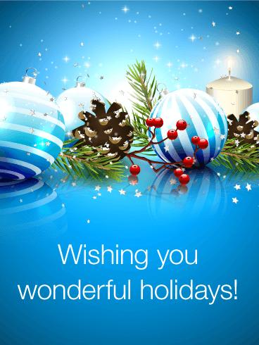 Wish You Have Wonderful Holidays Seasons Greetings Card