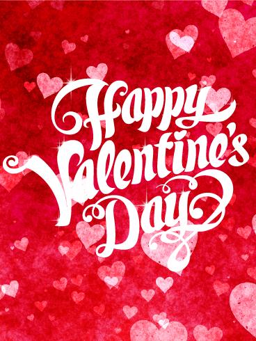 Red Hearts Happy Valentine S Day Card Birthday