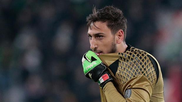 Indosport - Kiper andalan AC Milan, Gianluigi Donnarumma.