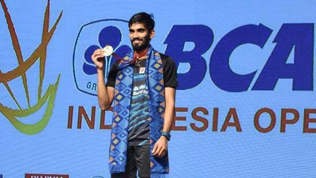 Indosport - Kidambi Srikanth menjadi juara setelah menumbangkan Sakai Sato di partai final.