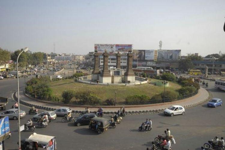 Pemandangan kota Kota di Rajashtan, India.(Mirror)