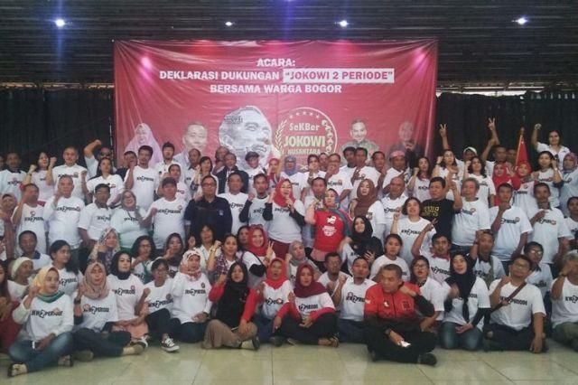 Sekber Jokowi Nusantara menyatakan dukungannya terhadap Presiden Joko Widodo untuk menjabat dua periode, Minggu (29/7/2018).