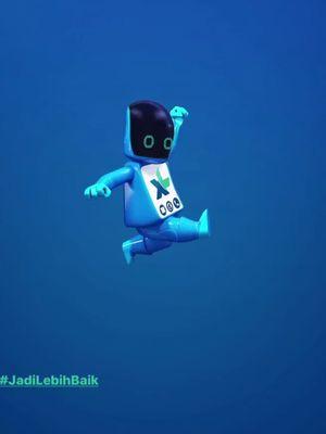Maskot robot bernama Xabi yang muncul di akun Instagram (Stories) dan Twitter XL dengan handle @MyXL.